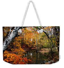 In Dreams Of Autumn Weekender Tote Bag by Kay Novy