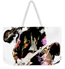 In Flight Iv Jimmy Page  Weekender Tote Bag by Iconic Images Art Gallery David Pucciarelli
