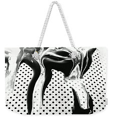 Weekender Tote Bag featuring the painting In Graphic Detail by Jacqueline McReynolds