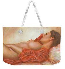 In Her Own World Weekender Tote Bag