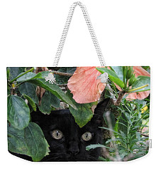 In His Jungle Weekender Tote Bag by Peggy Hughes