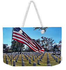 Weekender Tote Bag featuring the photograph In Honor Of Our Troops by Victor Montgomery