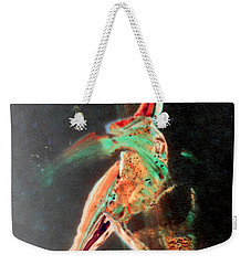Weekender Tote Bag featuring the painting In Jest by Jacqueline McReynolds