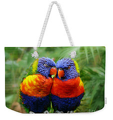 In Love Lorikeets Weekender Tote Bag
