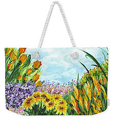 In My Garden Weekender Tote Bag by Holly Carmichael
