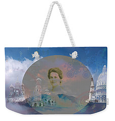 Weekender Tote Bag featuring the digital art In The Air by Cathy Anderson