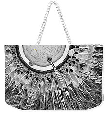 Weekender Tote Bag featuring the digital art In The Beginning by Carol Jacobs