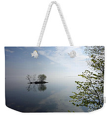 In The Distance On Mille Lacs Lake In Garrison Minnesota Weekender Tote Bag