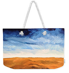 Weekender Tote Bag featuring the painting In The Distance by Linda Bailey