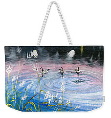Weekender Tote Bag featuring the painting In The Dusk by Melly Terpening