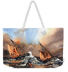 In The Eye Of The Storm Weekender Tote Bag