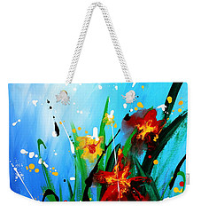 Weekender Tote Bag featuring the painting In The Garden by Kume Bryant