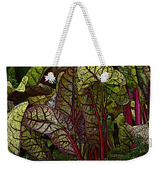In The Garden - Red Chard Jungle Weekender Tote Bag