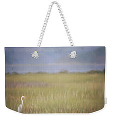 Weekender Tote Bag featuring the photograph In The Marsh  by Kerri Farley