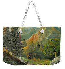 In The Mountains  Weekender Tote Bag by Sorin Apostolescu