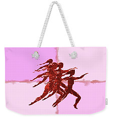In The Pink Weekender Tote Bag by Mary Armstrong