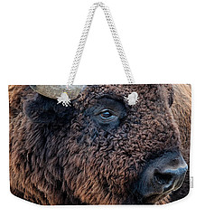 Bison The Mighty Beast Bison Das Machtige Tier North American Wildlife By Olena Art Weekender Tote Bag