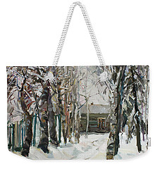 In The Snowy Silence Weekender Tote Bag