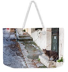 In The Streets Of Athens Weekender Tote Bag