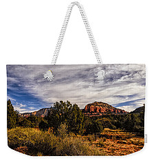 Weekender Tote Bag featuring the photograph In The Valley Below by Mark Myhaver