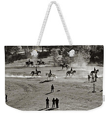 In The Warm Up Weekender Tote Bag by Joan Davis