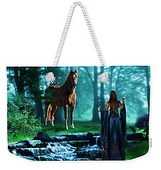 In The Woods Weekender Tote Bag by Davandra Cribbie
