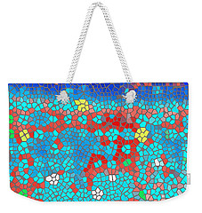 Weekender Tote Bag featuring the digital art In View Of The Fields by Wendy J St Christopher