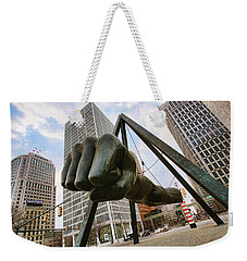 In Your Face -  Joe Louis Fist Statue - Detroit Michigan Weekender Tote Bag
