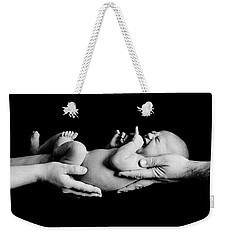 In Your Hands Weekender Tote Bag by Sebastian Musial