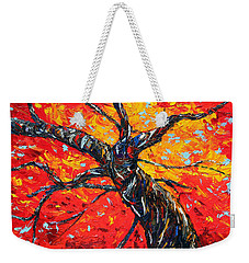 Weekender Tote Bag featuring the painting In Your Light by Meaghan Troup