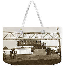 Weekender Tote Bag featuring the photograph Incredible Hanging Railway  1900 by California Views Mr Pat Hathaway Archives