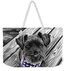 Independence Day Dog Weekender Tote Bag