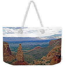 Independence Monument In Colorado National Monument Near Grand Junction-colorado Weekender Tote Bag by Ruth Hager
