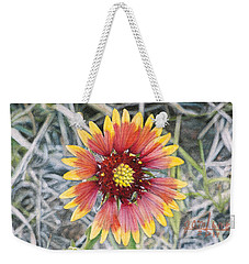 Weekender Tote Bag featuring the painting Indian Blanket by Joshua Martin