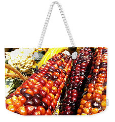 Weekender Tote Bag featuring the photograph Indian Corn by Caryl J Bohn