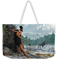 Indian Hunting With Atlatl Weekender Tote Bag