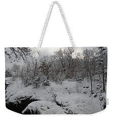 Indian Leap In Winter Weekender Tote Bag