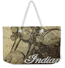 Indian Motorcycle Poster Weekender Tote Bag