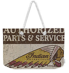 Indian Motorcycle Sign Weekender Tote Bag