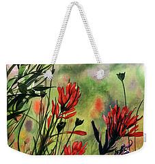 Indian Paint Brush Weekender Tote Bag by Barbara Jewell