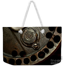 Indian Racer Crankshaft Fly Wheel Weekender Tote Bag by Wilma  Birdwell