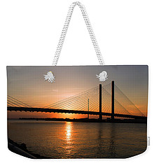 Indian River Bridge Sunset Reflections Weekender Tote Bag