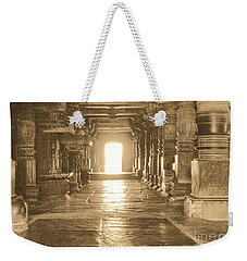 Weekender Tote Bag featuring the photograph Indian Temple by Mini Arora