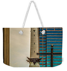 Indiana - Monument Circle With State Capital Building Weekender Tote Bag