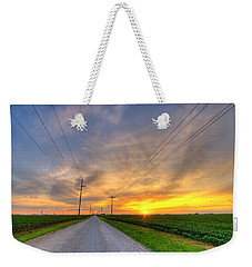 Indiana Sunset Weekender Tote Bag