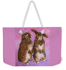 Indignant Bunny And Friend Weekender Tote Bag
