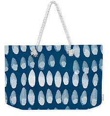 Indigo And White Watercolor Weekender Tote Bag