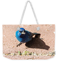 Indigo Bunting Weekender Tote Bag by Jon Woodhams