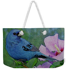 Indigo Bunting No 1 Weekender Tote Bag by Ken Everett