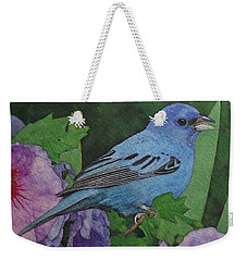 Indigo Bunting No 2 Weekender Tote Bag by Ken Everett